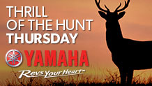 Yamaha Thrill of the Hunt Thursday
